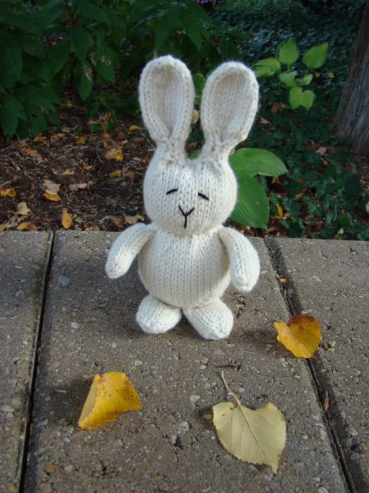 Rabbit Free Pattern Blue Sky Fibers