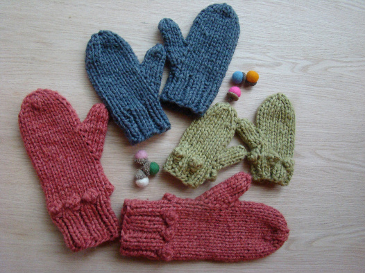 Outsider Mittens Free Pattern Blue Sky Fibers
