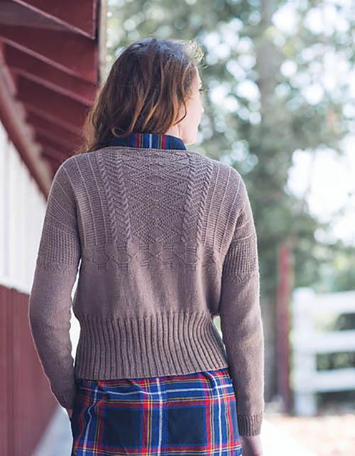 Worthington Gansey by Courtney Spainhower in Spud & Chloe Fine yarn.