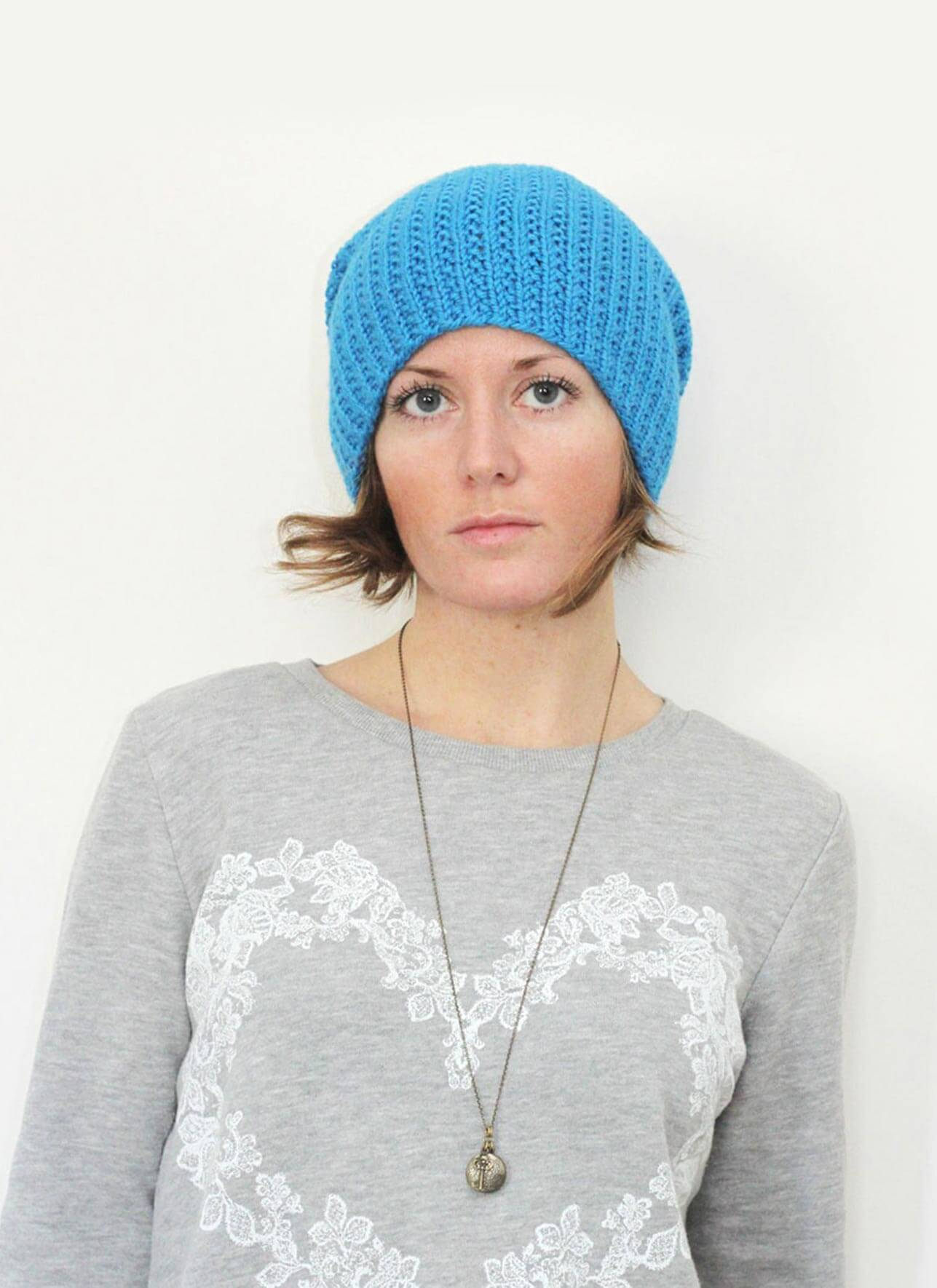 Extra Slouch Hat - Blue Sky Fibers
