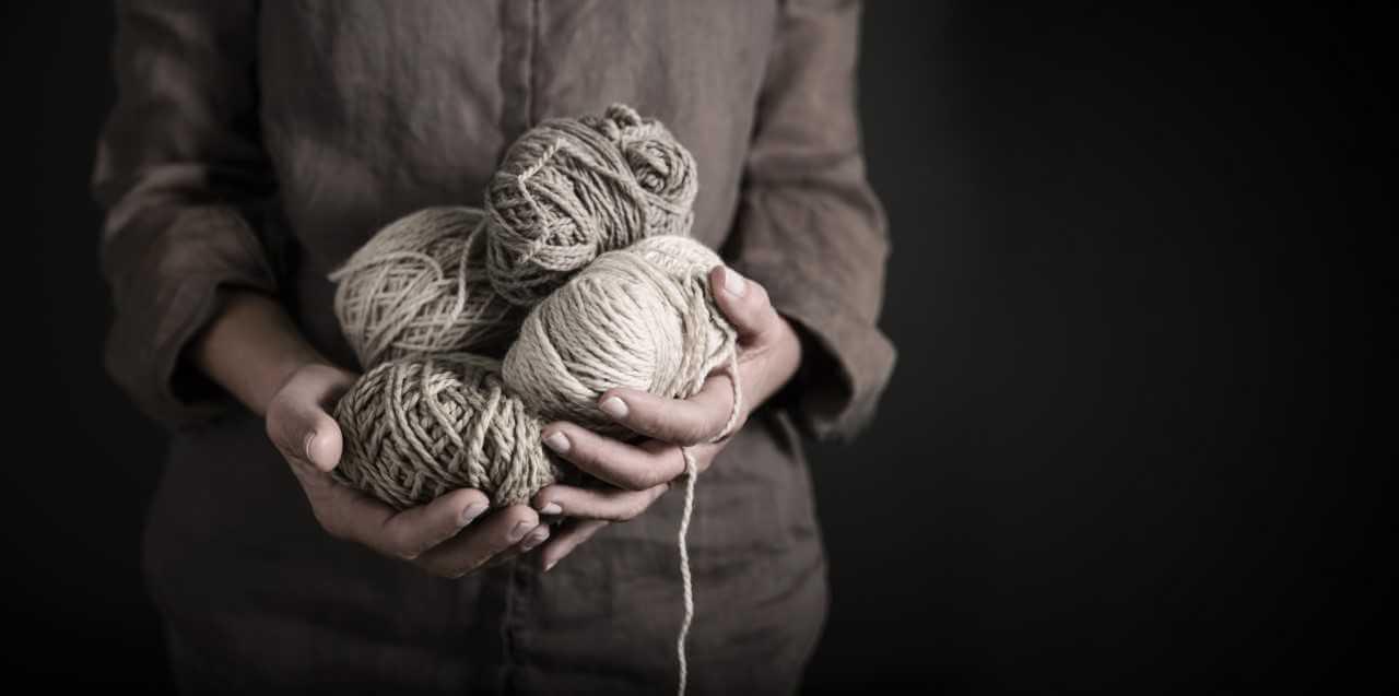 holding yarn