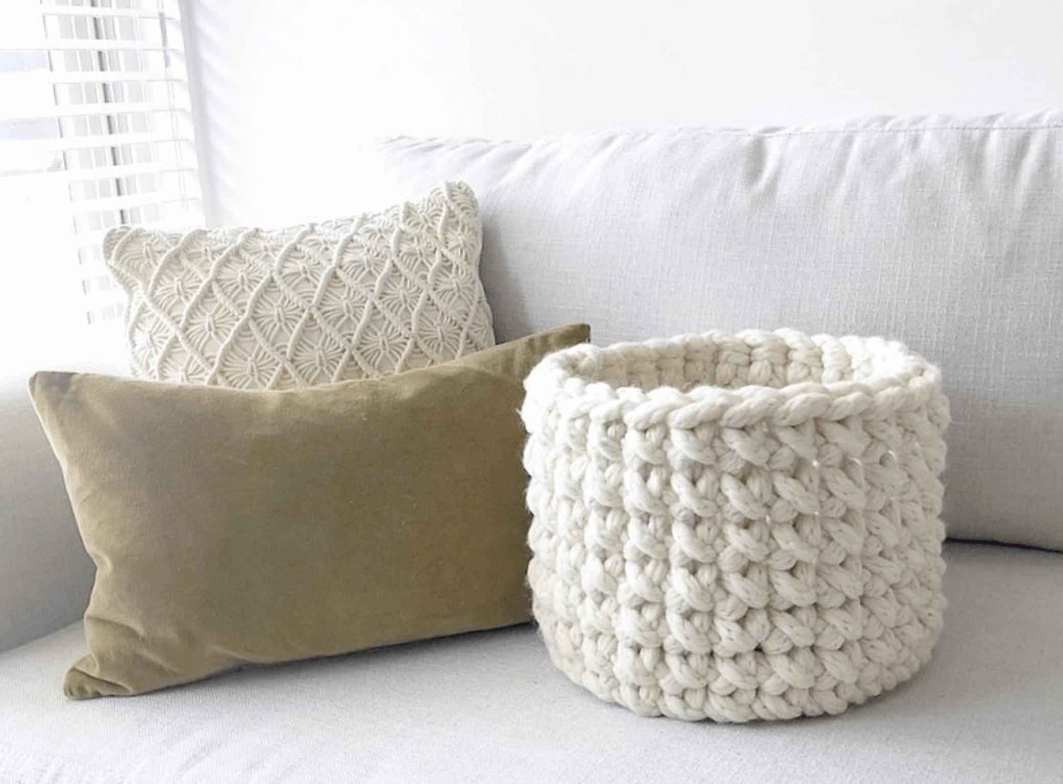 Jumbo Crochet Basket